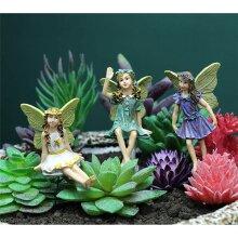6PCs Mini Fairies Figurines Garden Outdoor Decor