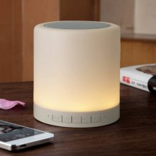 Smart LED Bluetooth Night Light Speaker 5W Wireless Hanging Touch Sensor Lamp