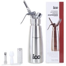 ICO - Cream Whipper, Stainless Steel Professional Siphon Dispenser