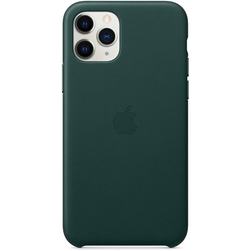 Apple Leather Back Cover for iPhone 11 Pro - Forest Green