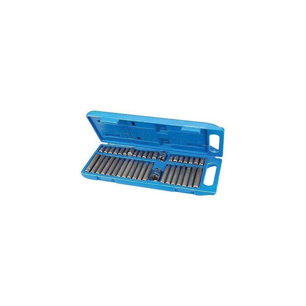 Silverline 881641 Hex T20-T55 /& Spline Bit Set 40 Piece