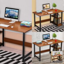 100CM Home Office PC Desk Table Wood Kid Writing Study Workstation UK