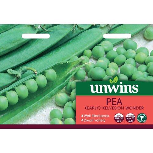 Unwins Grow Your Own Tasty Veg Seeds - Pea Early Kelvedon Wonder