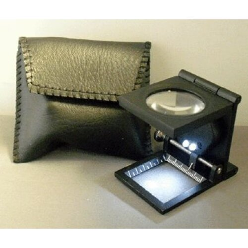 Fold-flat Linen Testers With LED Light Fabric, Embroidery Magnifier Glass Stand (metal)