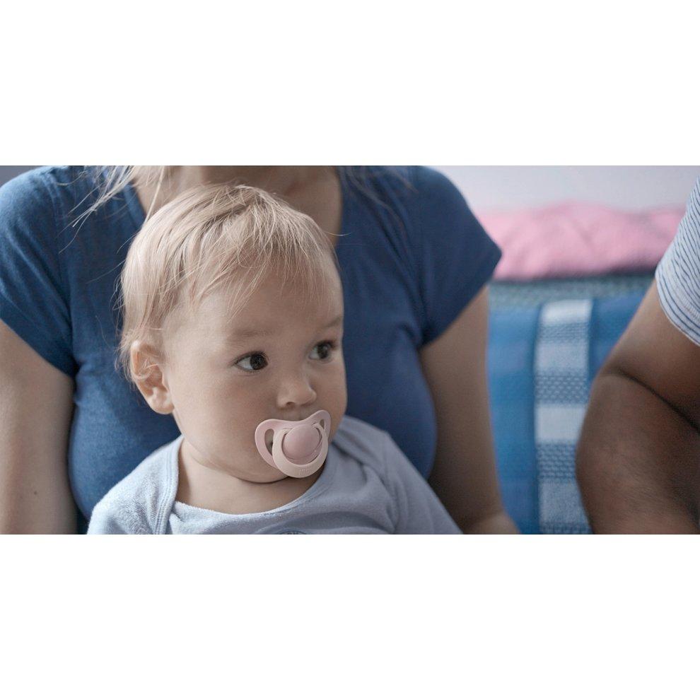 Pink 0-6 Months NUK Genius Baby Dummies 2 Count BPA Free Silicone