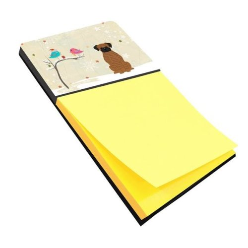 Christmas Presents Between Friends Brindle Boxer Sticky Note Holder