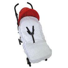 Broderie Anglaise Seat Liner Cover Compatible with Britax Buggy Pushchair White