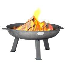 Harbour Housewares Garden Cast Iron Fire Pit | Outdoor Fire Bowl - 75cm