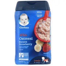 Gerber, Oatmeal Cereal, 8+ Months, Banana Strawberry (227g)