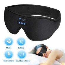 Sleep Headphones Bluetooth Eye Mask, TOPLANET Sleeping Headphoens With Timer Wireless 3D Sleep Mask, Music Play Sleeping Headphones with Built-in HD