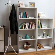 Cambridge 4 Tier Large Bookcase Shelf Display Unit