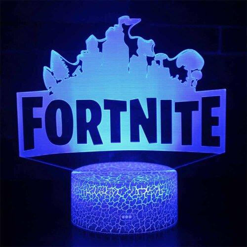 Fortnite 3D LED Night Light Colorful Changing Desk Table Lamp Kid Gift