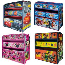 Disney Wooden Storage Rack | Official Disney Toy Drawers