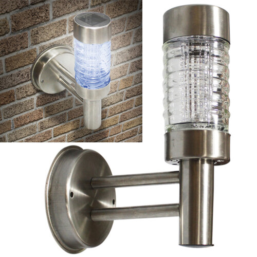 GEEZY Stainless Steel Solar LED Wall Light