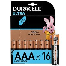 Duracell Ultra Power AAA Alkaline Batteries - Pack of 16, Packaging may vary