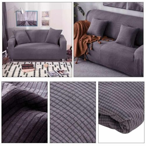 2 Seaters Sofa Settee Covers Couch Slipcovers Stretch Elastic