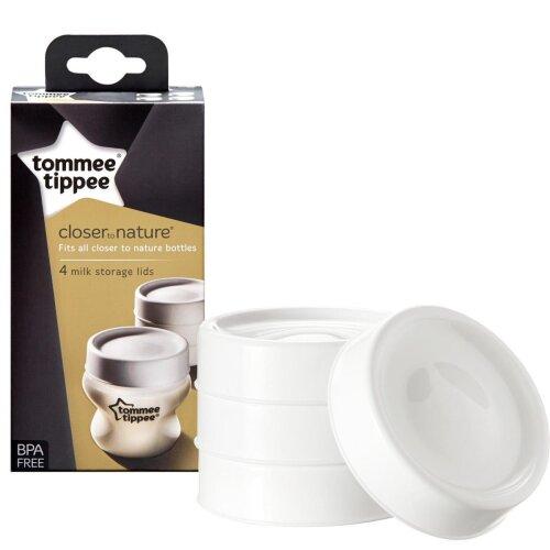 Tommee Tippee Milk Storage Lids, 4 Pack