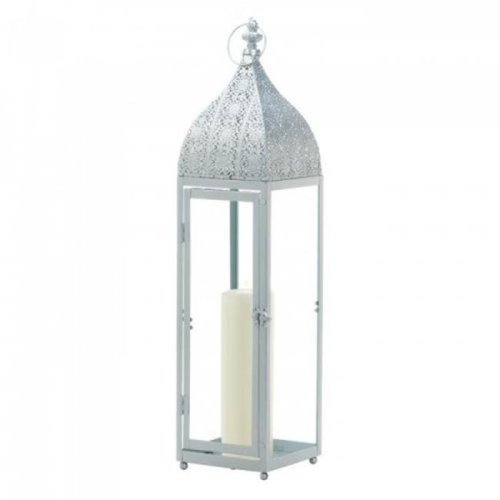 Gallery of Light 10018512 Large Silver Moroccan Style Lantern
