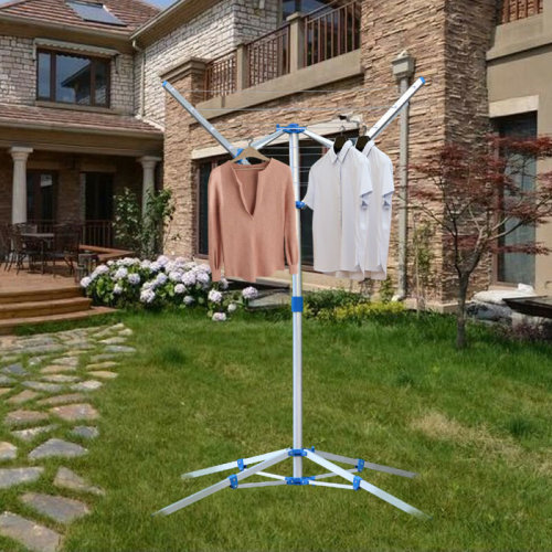 Rotary Washing Line Clothes Airer Adjustable Foldable Laundry 4 Arm