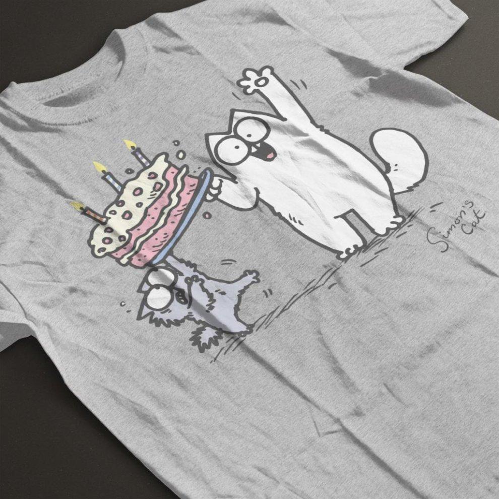 Simon/'s Cat Birthday Cake Men/'s Hooded Sweatshirt