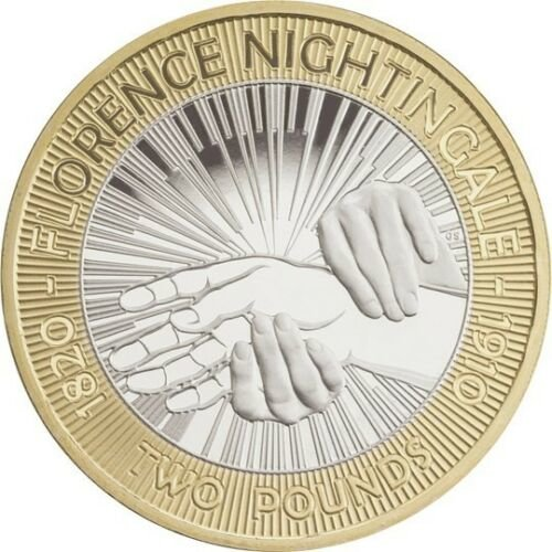 Used Florence Nightingale 2 Pound Coin