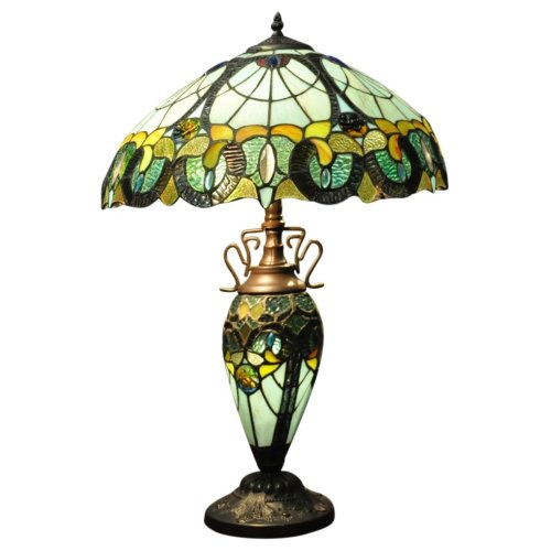 Geko Products Multi Colour Double Tiffany Lamp 68cm