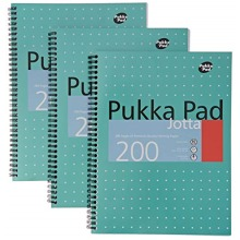Pukka Pads A4 Metallic Jotta Wirebound Notebook (Pack of 3), White