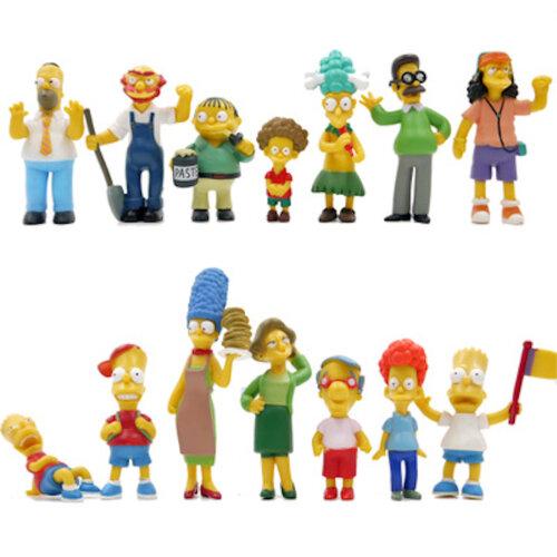 14pcs Simpsons Family Figure Toy Model