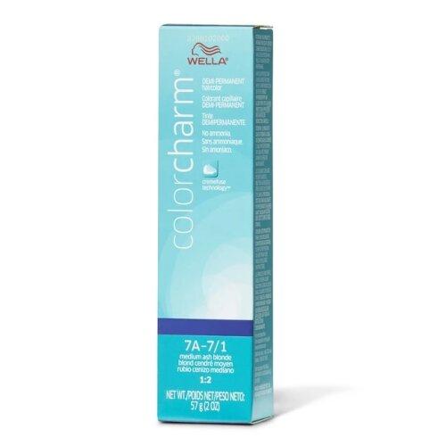 (7A – 7/1 Medium Ash Blonde  ) Wella Color Charm 7A Medium Ash Blonde Demi – Permanent Haircolor