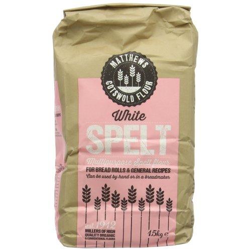 Matthews Cotswold White Spelt Flour 1.5 kg (Pack of 5)
