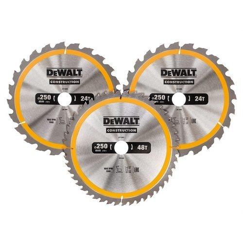 DeWalt DT1964-QZ Construction Circular Saw Blade 3 Pack 305 x 30mm x 24T/48T/60T