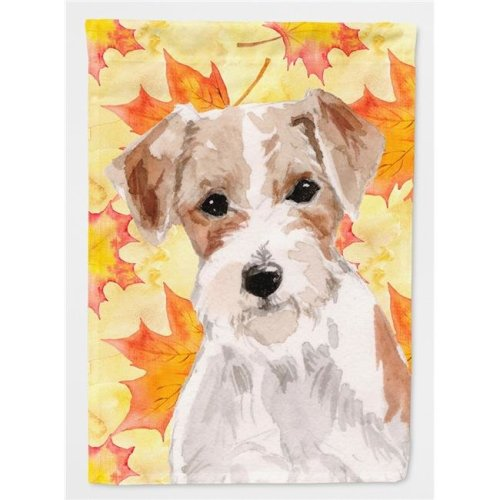 Wire Hair Jack Russell Fall Flag Canvas House