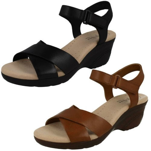 Ladies Clarks Casual Wedge Sandals Lynette Deb - D Fit