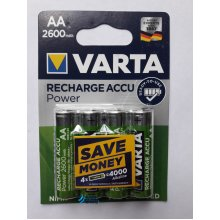 Varta Accu AA 2600 mAh Nickel Metal Hydride 2600mAh 1.2V rechargeable battery