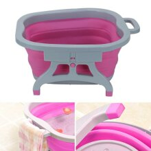 Folding Foot Spa Pedicure Wet Bath Bubble Massage Bucket Feet Therapy