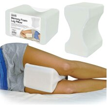 Memory Foam Leg Pillow Orthopaedic Back Hips Knee Contour Support Washable Cover