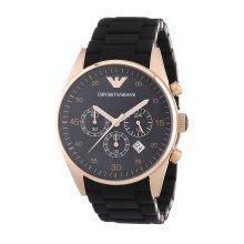 Emporio Armani AR5905  Men's Steel Brand Black Dial Quartz Watch