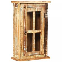 vidaXL Solid Reclaimed Wood Wall Cabinet 44x21x72cm Storage Cupboard Vitrine
