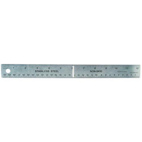 Helix Dead Length 30cm 12 inch Steel Folding Ruler