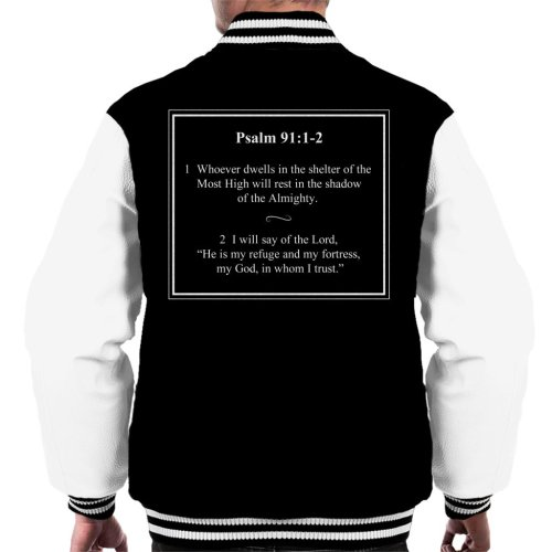 Religious Quotes Shadow Of The Almighty Psalm 91 1 2 Men's Varsity Jacket