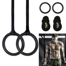2 Adjustable Olympic Gymnastic Rings Gym Strength Fitness Training