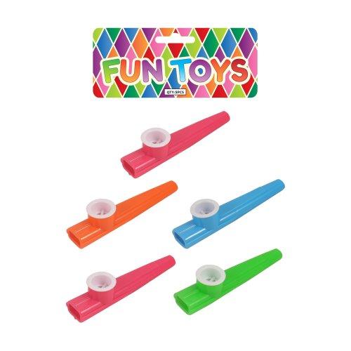 5 Plastic Kazoos (Bag)