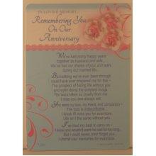 Memorial Grave Card In Loving Memory remembering you Anniversary 15cm x 10.5cm