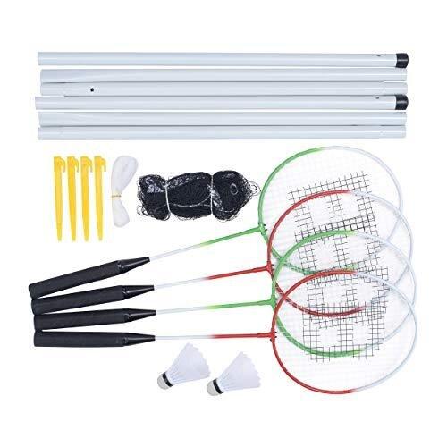 Baseline BG955 4 Player Badminton Set for Beginners with Net, Rackets and Shuttlecocks