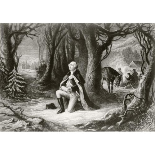 George Washington Prays At the American Revolutionary War Encampment of Valley Forge During the Winter of 17771778 Aft 1 Poster Print, 17 x 12