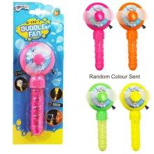 Children's 2 In 1 Bubble Fan Toy Age 5+ Random Colour