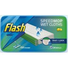 Flash Speedmop Wet Cloths Wild Orchid with Trap+Lock Technology, 24 Refills