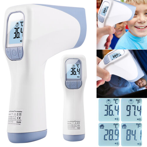 Infrared Forehead Digital Thermometer Gun for Baby and Adults No Touch Body Care
