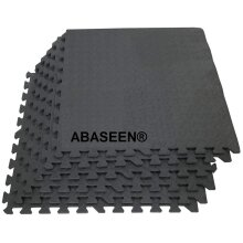Abaseen 96 Sq Ft Interlocking Foam Mats Tiles Gym Dark Grey