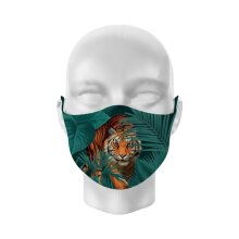 Reusable Face Covering -Non Medical-Spot and Stripes Big Cat- Large